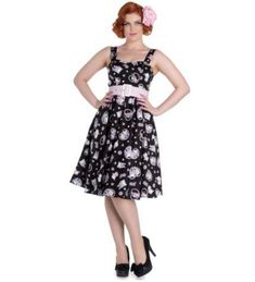 HELL BUNNY AMELIA 50'S DRESS in black - Love to Death