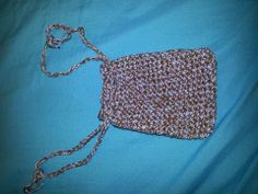 Crochet Drawstring bag- 2 tone