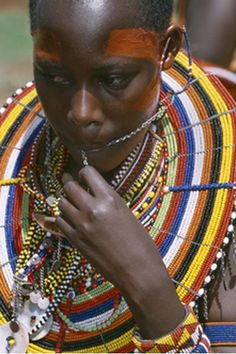 Africa | Maasai woman