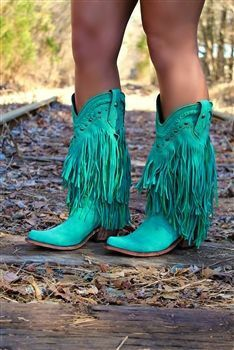 Turquoise Liberty Black Boots
