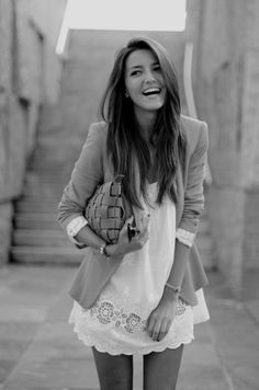 Wearing a blazer over a dress never fails to add a little sophistication...clean & classy!