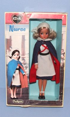 My Sindy doll- i still have her and her little uniform! Mine has dark hair and I saved my tooth fairy miney up for her :-) Vintage Nurse, Vintage Dolls, 1970s Childhood, Childhood Memories, Nurse Art, Tammy Doll, Sindy Doll, Barbie Friends, Hello Dolly