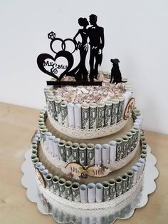 Design the wedding cake with tickets, make creative gifts yourself, step by step instructions Informations About ▷ kreative Ideen für Geldgeschenke verpacken Pin You … Money Bouquet, Don D'argent, How To Make Wedding Cake, Wedding Gifts, Wedding Cakes, Creative Money Gifts, Money Cake, Cake Sizes, Birthday Gifts