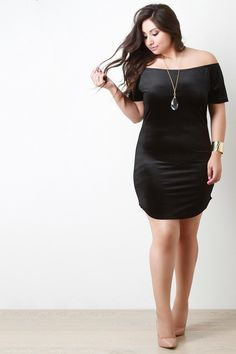 Velvet Rib Knit Off The Shoulder Mini Dress - Gioellia Boutique - 9