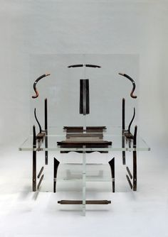 Shao Fan contemporary deconstructed Ming styled furniture and lucite is really captivating. #ContemporaryChineseArt