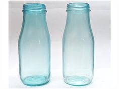 How to Tint Glass Jars - these are Starbuck Frap bottles - bjl