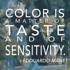 Color is . Art Qoutes, Quotations, Me Quotes, Creative Inspiration, Color Inspiration, Artist Quotes, Edouard Manet, Creativity Quotes, Famous Artists