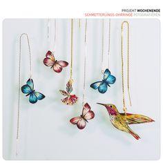 Ohrringe Schmetterlingen - earrings butterflies - Sternelfe - Schmetterlinge - Calliope hummingbird