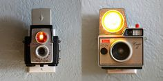 Vintage Camera Night Lights. Awesome!