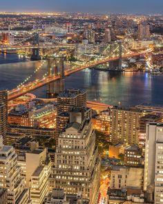 City lights by @gregroxphotos #newyorkcityfeelings #nyc #newyork