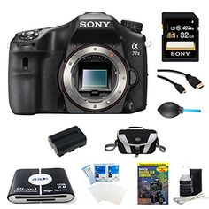 Sony A77II ILCA77M2 A77M2 a77 II Digital SLR Camera  Body Only Bundle Includes camera 32GB SDHC Memory Card NPFM500 Camera Battery Compact Bag 57in1 Memory Card Reader Photography DVD microHDMI Cable and More -- You can find out more details at the link of the image. #BeautifulPictures