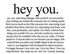 HEY YOU-  ALL YOU SELF-CONCIOUS GIRLS OUT THERE!!