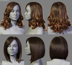 4 New Hairstyles, Dani Garcia on ArtStation at https://www.artstation.com/artwork/4-new-hairstyles