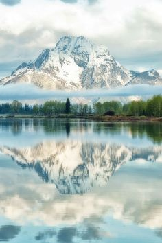 Oxbow Bend in the Teton Mountain Range, Wyoming~~~~GOD'S MAJESTY!!!! NO WORDS CAN DESCRIBE THIS BEAUTY!!!