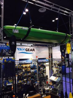 Above the @YakGear @ICASTshow booth. You can see what brand #kayak they've chosen to display. #ICAST