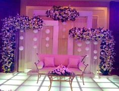 Stage decorations for wedding Wedding Stage Decorations, Engagement Stage Decoration, Reception Stage Decor, Desi Wedding Decor, Wedding Stage Design, Luxury Wedding Decor, Wedding Reception Backdrop, Backdrop Decorations, Stage Decoration Photos