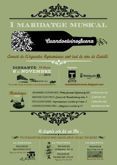 Cartel para el I Maridaje Musical Cuandoelvinosuena. Noviembre 2014.