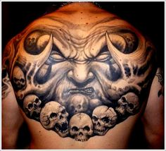 ass tattoos for men | ... we are presenting some more examples of Bad Ass Evil Tattoo Designs