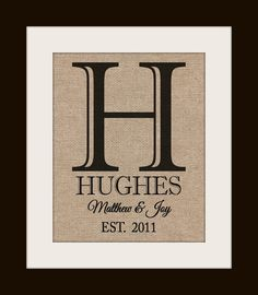 Personalized Wedding Gift Burlap Wall Decor Family by KNOTnNEST, $20.00