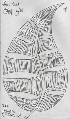 LuAnn Kessi: Sketch Book.....Leaf Designs 3