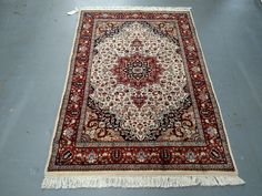 1980s Vintage, Hand-Knotted, Indo-Tabriz Rug (1500) by JahannAndSons on Etsy