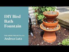 DIY Bird Bath Fountain | One Drink Projects - YouTube