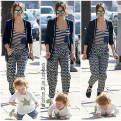 Aww..Haven takes a tumble#jessicaalba #baby #cute #sweet #adorable #fall #love #mom #blonde #floral #coat #blazer #accessories #shades #sunglasses #cardigan #walk #tumble #hair #flats #sandals #dior #chanel #prada #celine #jumpsuit #romance #romper... - Celebrity Fashion