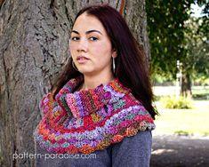 Crochet Pattern Cowl Scarf Poncho Waves of Warmth PDF 16-243
