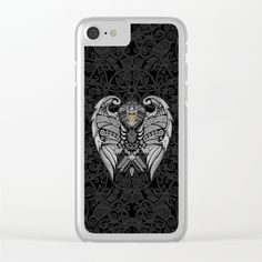 Aztec Pattern Ravenclaw Eagle Clear Iphone case #ClearIphone #case #hardcase #clear #artdesign #digitalart #drawing #digital #colored #pencil #pattern #vintage #blackwhite #ravenclaw #hawk #eagle #animal #bird #tattoo #mayan #indian #americannative