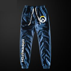 Game Overwatch OW Sports Casual Pants Cotton Drawstring Trousers Cos Xmas Gift