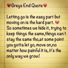 Sometimes letting go is the hardest part but also it can be the most healing for your heart