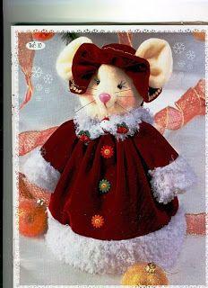 REVISTA PAÑO LENCY N13 Cute Christmas Ideas, Christmas 2016, Xmas, Christmas Centerpieces, Christmas Decorations, Holiday Decor, Christmas Sewing, Christmas Crafts, Felt Crafts