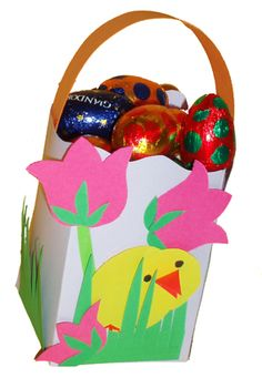 Un mini panier de Pâques.