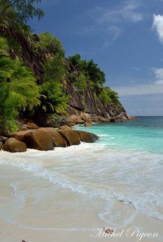 Mahé, Seychelles islands Petite Anse à Mahé by Michel Pigeon Pigeon, Seychelles Islands, 1, Michel, Places, Water, Travel, Outdoor, Happy