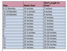 Make It Grand: Measurements for Girls Skirts and Pants