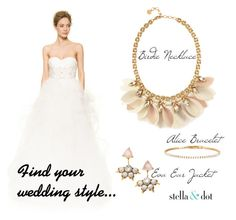 Wedding Style #3 by amy-kriz on Polyvore featuring Reem Acra and Stella & Dot
