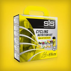 SIS (Science in Sport) cycling nutrition kit packaging design, produced by Design Activity. featuring Sir Chris Hoy.
