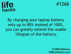 """This is how it was explained to me -  If you only charge to 80% , you """"might"""" get up to 2000 cycles  But at 100% charge you only get around 500 cycles.  I think you should look at 750-1000 cycles if you charge to 80% , which is worth the 20% loss in runtime."""