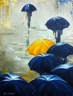 Umbrella Painting, Umbrella Art, How I Met Your Mother, Go To The Cinema, Yellow Umbrella, Mother Art, Object Drawing, Himym, Joker And Harley Quinn