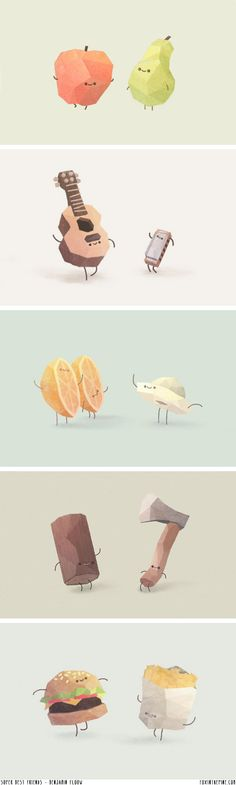 Super Best Friends' prints by Benjamin Flouw // FOXINTHEPINE.COM