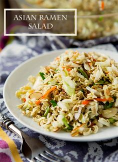 This Crushed Asian Ramen Salad recipe makes for a new and delicious salad experience. Try it out for dinner!