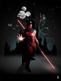 Iron Man/Darth Maul Disney mashup.  Cool!