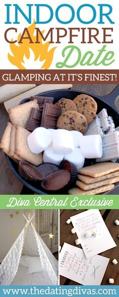 Such a romantic date night idea for indoor camping with your spouse! Love it! www.TheDatingDivas.com