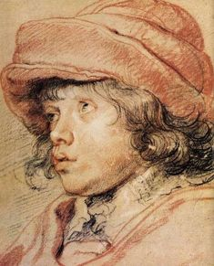 Rubens. Son Nicolas with a Red Cap. 1625.