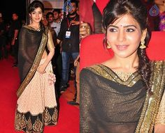 Pothys' Style Icons: Samantha Ruth Prabhu !  The new darling of south cinema Samantha's fashion choice are usually simple and chic. When it comes to dressing she loves light shades and black is a must have. Less accessory and make-up is her mantra. From looks to talent, Samantha seems to have it all.