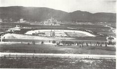 The Velodrome was built for the 1896 Olympic Games. 1896 Olympics, History Page, History Of Photography, Athens Greece, Old City, Olympic Games, Old Photos, Paris Skyline, Photo Galleries