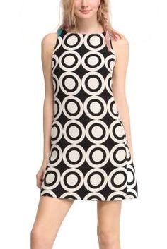Desigual women's Natalia dress. Geometric inspiration from Mr. Lacroix in this trendy dress designed for Desigual. Choose your color.