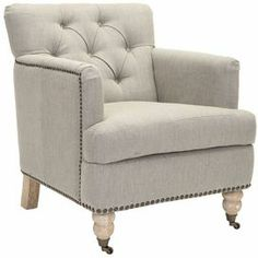 Cali Arm Chair in Stone Gray