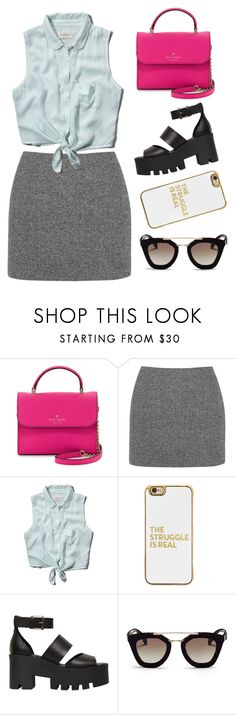 """""""Untitled #38"""" by gina-cremont on Polyvore featuring Kate Spade, T By Alexander Wang, Abercrombie & Fitch, BaubleBar, Windsor Smith and Prada"""