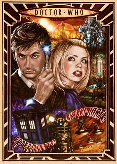 Doctor Who art #10 and rose tyler
